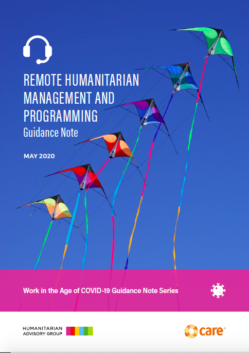 Remote Humanitarian Management and Programming: Guidance Note
