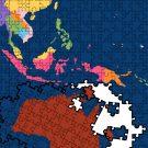 Australia and Asia jigsaw pieces