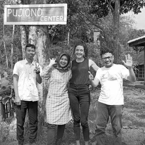 HAG's Jess Lees with staff from the Pujiono Centre in Indonesia