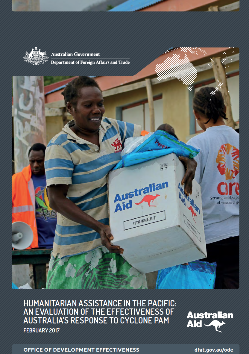 Humanitarian Assistance In The Pacific: An evaluation of the effectiveness of Australia's response to Cyclone Pam