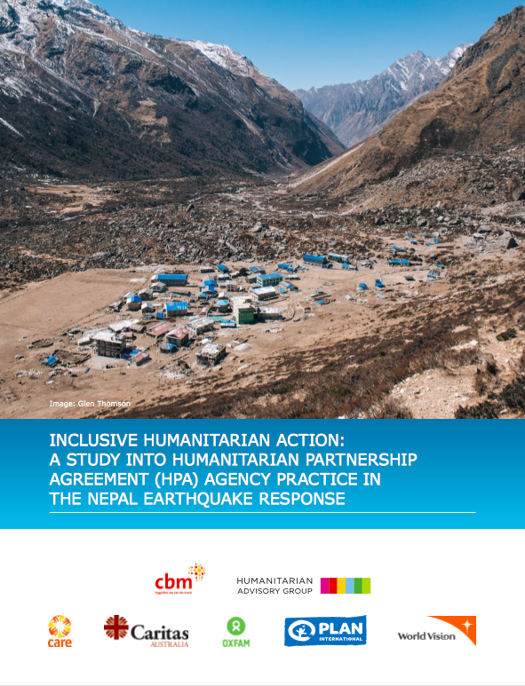 Inclusive Humanitarian Action: A Study into Humanitarian Partnership Agency Practice in the Nepal Earthquake Response