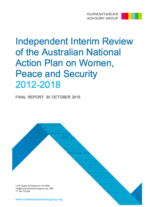 Independent Interim Review of the Australian National Action Plan on Women Peace and Security 2012-2018