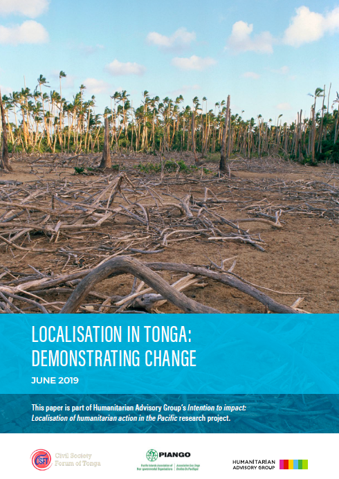 Localisation in Tonga: Demonstrating change