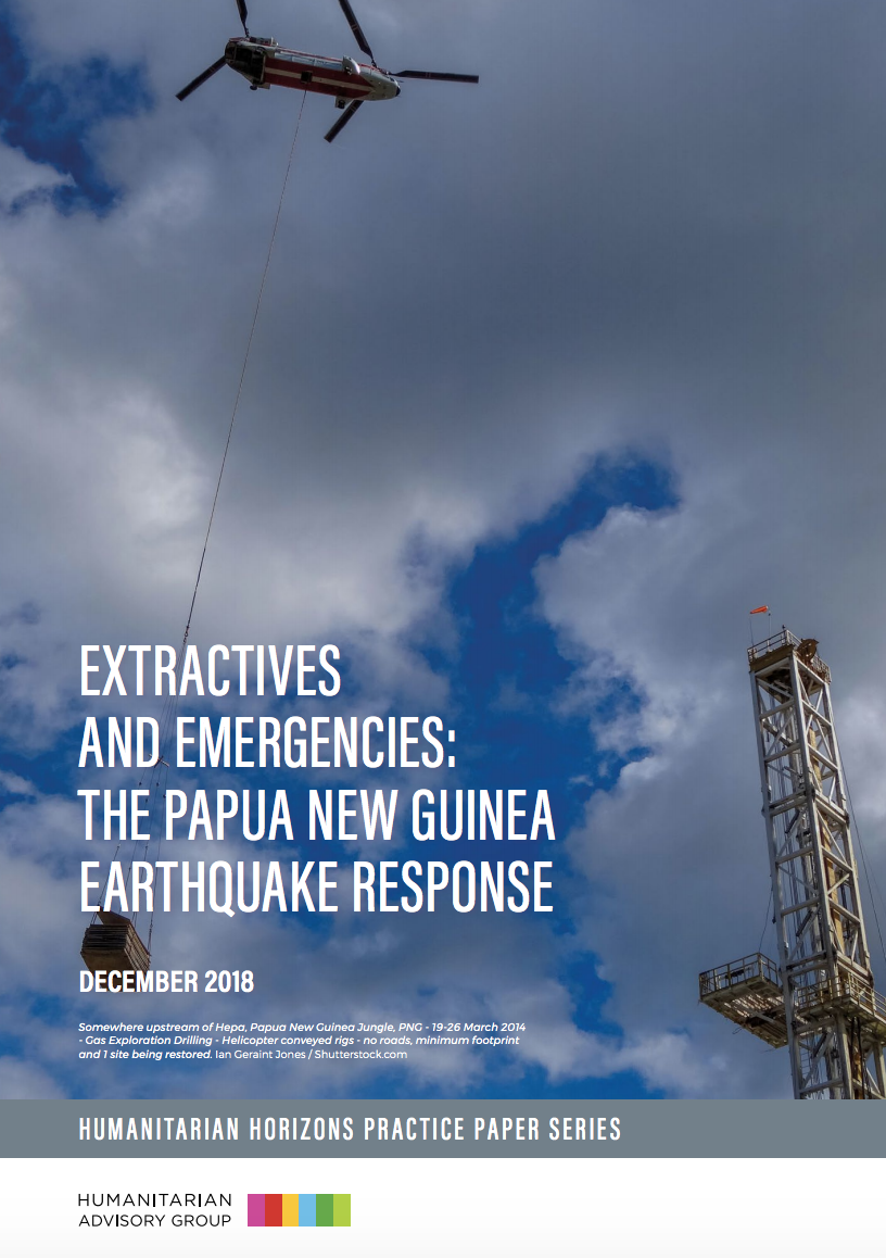 Extractives and Emergencies: the Papua New Guinea Earthquake Response