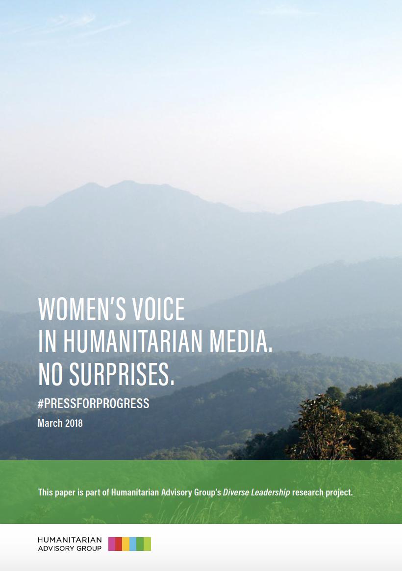 Women's Voice in Humanitarian Media. No Surprises.